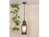 Уличный подвесной светильник Elektrostandard Antares H (кантри, черное золото)