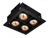 Точечный встраиваемый светильник ArteLamp A5930PL-4BK