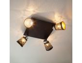 Светильник спот Евросвет 20061/4 Monte (черный-хром, модерн)