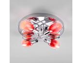 Люстра потолочная Евросвет 30151/4 Potpourri (хром-красный, детский)