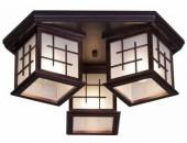 Люстра потолочная Svetresurs/Светресурс 592-727-03 (японский стиль, дерево)