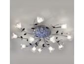 Люстра потолочная Евросвет 80114/12 Florescence LED (хром, хай-тек)