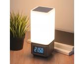 Настольная Smart-лампа с Bluetooth-колонкой Евросвет 80418/1 LED Media (серебристый, модерн)