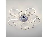 Люстра потолочная Евросвет 90129/5 LED Curl (хром, хай-тек)