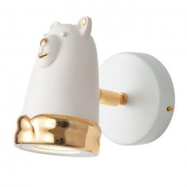 Светильник настенный спот Favourite 2450-1W Taddy Bears (золото-белый гипс, детский)