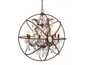 Люстра подвесная LOFT IT LOFT1897/8 Enrike, с хрусталем, коричневый