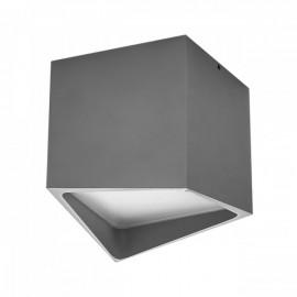 Точечный накладной влагозащищенный светильник Lightstar QUADRO LED 214479 серый