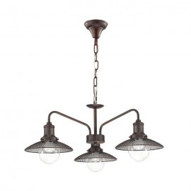 Люстра подвесная Lumion Loft 3513/3 LUDACRIS (коричневый, винтаж)