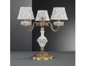 Настольная лампа  Reccagni Angelo P 9000/3 (классический, бронза-фарфор)