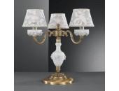 Настольная лампа  Reccagni Angelo P 9001/3 (классический, бронза-фарфор)