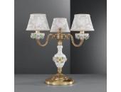 Настольная лампа  Reccagni Angelo P 9100/3 (классический, золото-фарфор)
