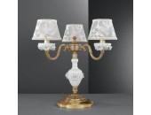 Настольная лампа  Reccagni Angelo P 9101/3 (классический, золото-фарфор)