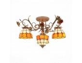 Люстра потолочная ST Luce SL371.852.04 VETRATO (оранжевый-бежевый, флористика)