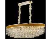 Люстра подвесная Wertmark WE136.12.303 CLARISSA (золото-коричневый-кожа, модерн)