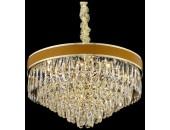 Люстра подвесная Wertmark WE136.15.303 CLARISSA (золото-коричневый-кожа, модерн)