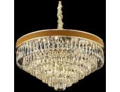 Люстра подвесная Wertmark WE136.22.303 CLARISSA (золото-коричневый-кожа, модерн)