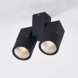 Точечный накладной светильник Citilux CL556102 Дубль (модерн, черный)