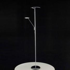 Светодиодный торшер Citilux CL802001 Дискус Хром LED 18W+5W - 3000K