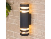Уличный настенный светильник Elektrostandard Techno 1443 (модерн, черный)