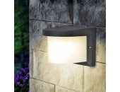 Уличный настенный светильник Elektrostandard Techno 1544 Shelter Rround (модерн, черный)