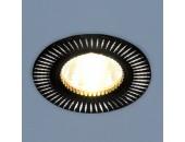 Точечный встраиваемый светильник Elektrostandard 2003 BK/SL (модерн, черный-серебро)
