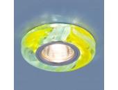 Точечный встраиваемый светильник Elektrostandard 2191 YL/BL (модерн, желтый/голубой)