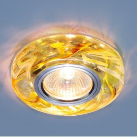 Точечный встраиваемый светильник Elektrostandard 2191 CL/YL/GR (модерн, прозрачный/желтый/зеленый)