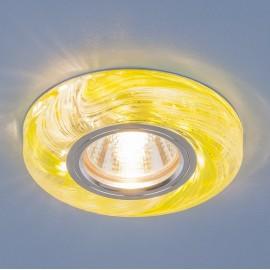 Точечный встраиваемый светильник Elektrostandard 2191 CL/GR (модерн, прозрачный/зеленый)