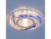 Точечный встраиваемый светильник Elektrostandard 2191 CL/BL (модерн, прозрачный/синий)