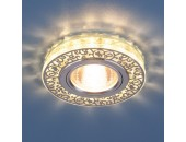 Точечный встраиваемый светильник Elektrostandard 6034 CH/CL (модерн, хром/прозрачный)