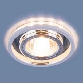 Точечный встраиваемый светильник Elektrostandard 7021 SL/WH (модерн, зеркальный/белый)