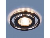Точечный встраиваемый светильник Elektrostandard 7021 SL/BK (модерн, зеркальный/черный)