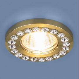 Точечный встраиваемый светильник Elektrostandard 8331 GD/CL (модерн, золото/прозрачный)