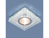 Точечный встраиваемый светильник Elektrostandard 8391 CL/SL (модерн, прозрачный/серебро)