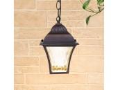 Уличный подвесной светильник Elektrostandard Apus H GL 1009H (шоколад, классика)