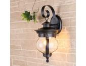Уличный настенный светильник Elektrostandard Barrel D (кантри, черное золото)