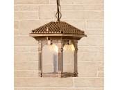 Уличный подвесной светильник Elektrostandard CORVUS H GL1021H 4690389138201 (черное золото, восточный стиль)