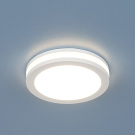 Точечный  встраиваемый светильник Elektrostandard DSKR80 3300K LED (модерн, белый)