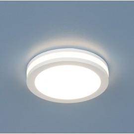 Точечный  встраиваемый светильник Elektrostandard DSKR80 4200K LED (модерн, белый)