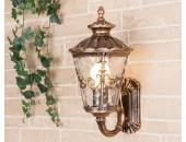 Уличный настенный светильник Elektrostandard Diadema U (классика, черное золото)
