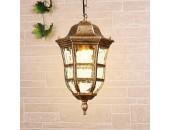 Уличный подвесной светильник Elektrostandard DORADO H GL1013H 4690389135972 (черное золото, классика)