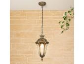 Уличный подвесной светильник Elektrostandard Draco H GL 1010H (черное золото, классика)