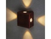 Уличный настенный светильник Elektrostandard 1601 TECHNO LED Kvatra красно-черный