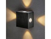 Уличный настенный светильник Elektrostandard 1601 TECHNO LED Kvatra черный