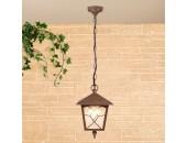Уличный подвесной светильник Elektrostandard Lyra H брауни (коричневый, классика)
