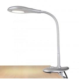 Настольная лампа на прищепке Евросвет 90198/1 SMART LED (модерн, серебристый)