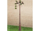 Уличный столб Elektrostandard Talli F/3 GL 3002F/3 брауни (кантри, коричневый)