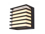 Уличный настенный светодиодный светильник Maytoni O020WL-L10B4K Downing Street (черный, модерн)