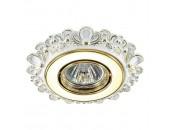 Точечный встраиваемый светильник Novotech 370271 LIGNA белый-золото