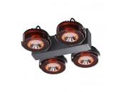 Светильник потолочный спот Odeon Light 3818/40CL VIVACE (черный c коньячным, модерн)